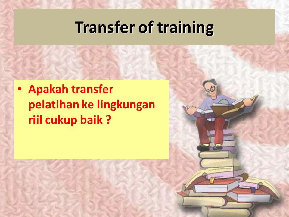 Struktur program pelatihan : Kapan dan seberapa sering pelatihan diadakan ? Berapa lama tiap sesinya berlangsung ? Bagaimana kesempatan penerapannya b