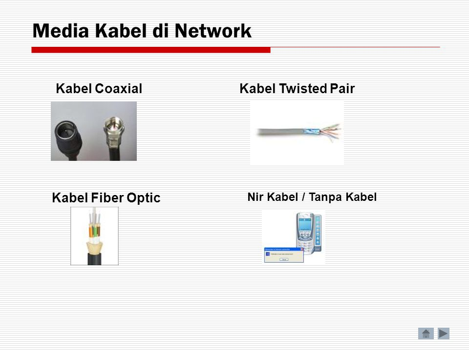 Media Kabel di Network Nir Kabel / Tanpa Kabel Kabel Twisted PairKabel Coaxial Kabel Fiber Optic