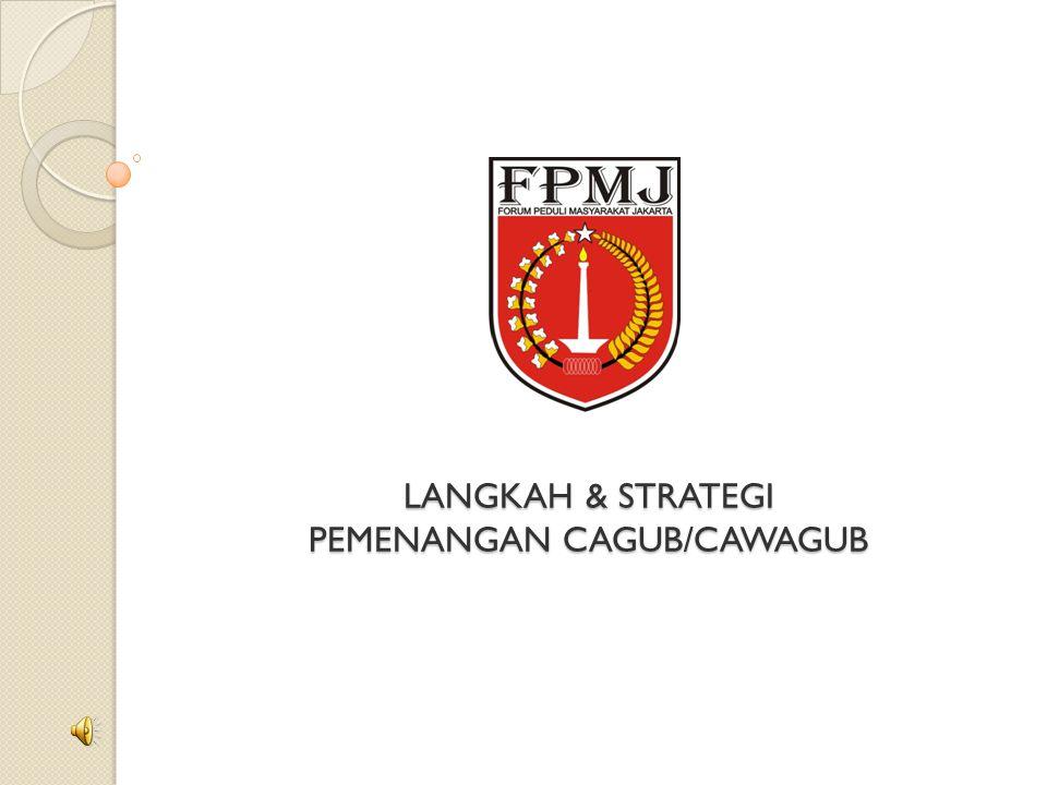 LANGKAH & STRATEGI PEMENANGAN CAGUB/CAWAGUB