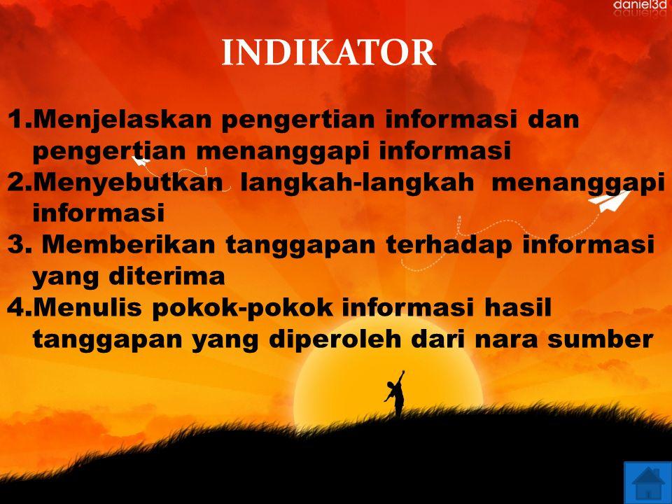 Kompetensi Dasar 3.2. Menanggapi informasi dari kolom/rubrik khusus (majalah, anak, koran, dll)