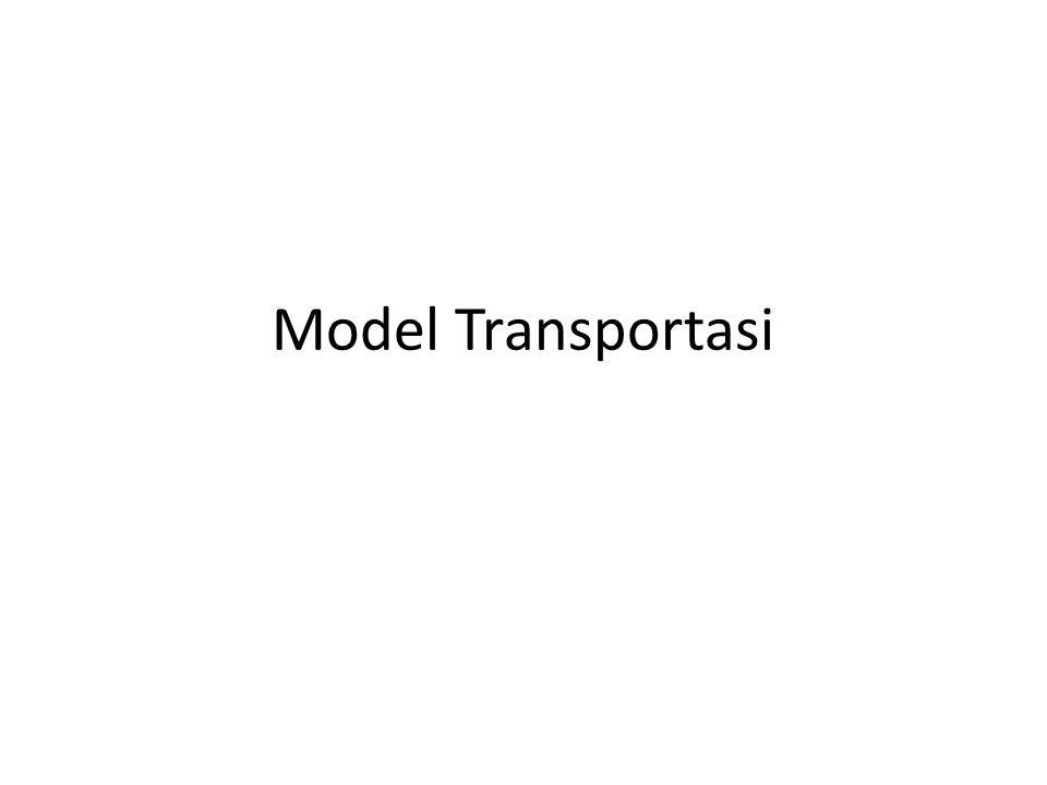 Perbandingan ketiga Metode Metode Northwest corner: paling mudah, tapi tidak mempertimbangkan biaya Metode Minimum Cost: biaya dilibatkan, tapi ada kasus tertentu dengan dipilihnya biaya termahal Metode Vogel: proses iterasi lebih rumit, kombinasi solusi menghasilkan biaya terkecil – Pada model transportasi yang kompleks: jumlah iterasi yang lebih sedikit daripada kedua metode sebelumnya.
