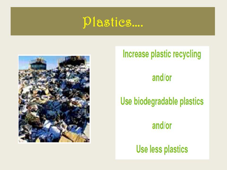 Plastics….