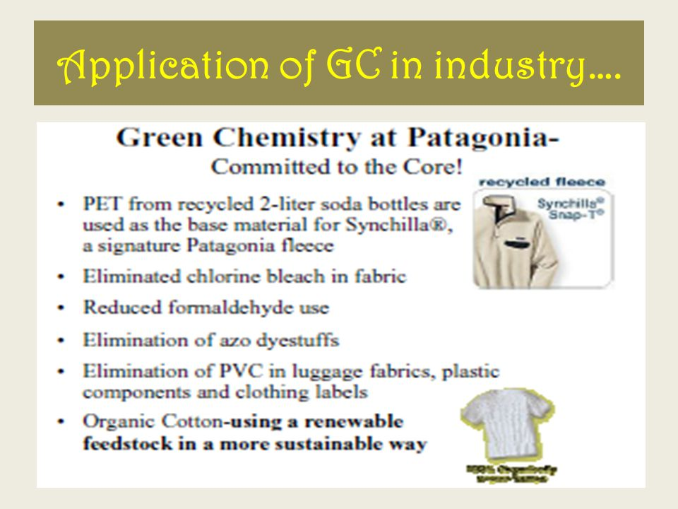 Application of GC in industry….