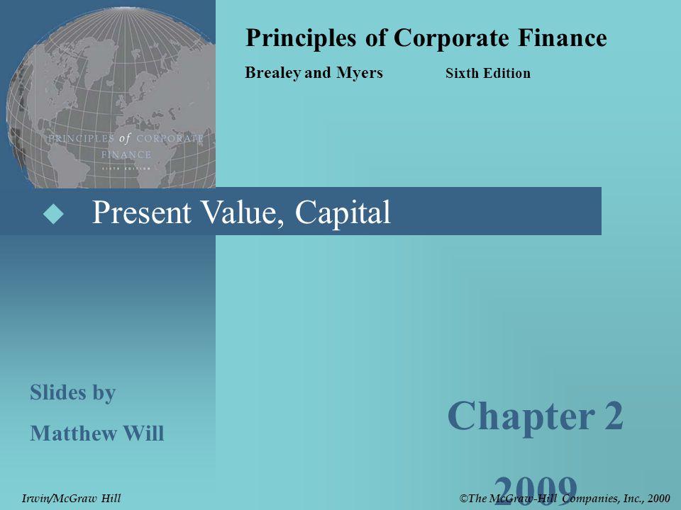 © The McGraw-Hill Companies, Inc., 2000 Irwin/McGraw Hill 2- 22 Investment vs.