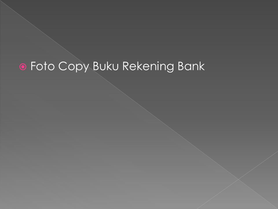  Foto Copy Buku Rekening Bank