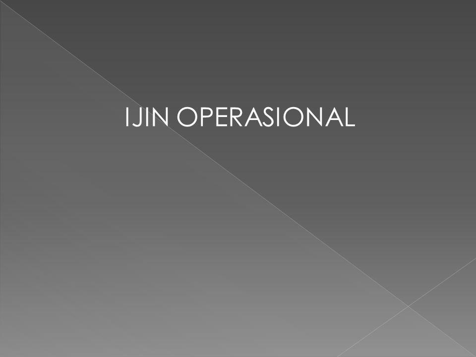 IJIN OPERASIONAL