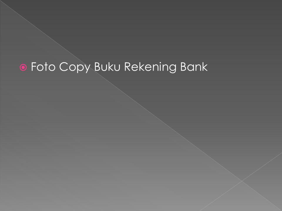  Foto Copy Buku Rekening Bank