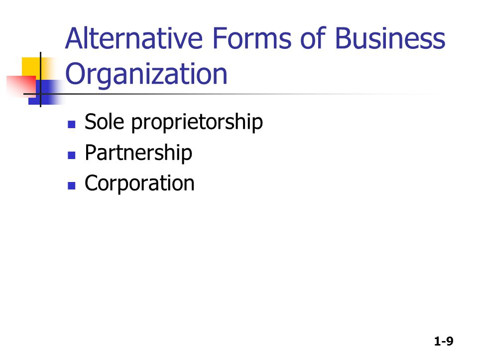 1-10 Sole proprietorships & Partnerships Advantages Ease of formation Subject to few regulations No corporate income taxes Disadvantages Difficult to raise capital Unlimited liability Limited life