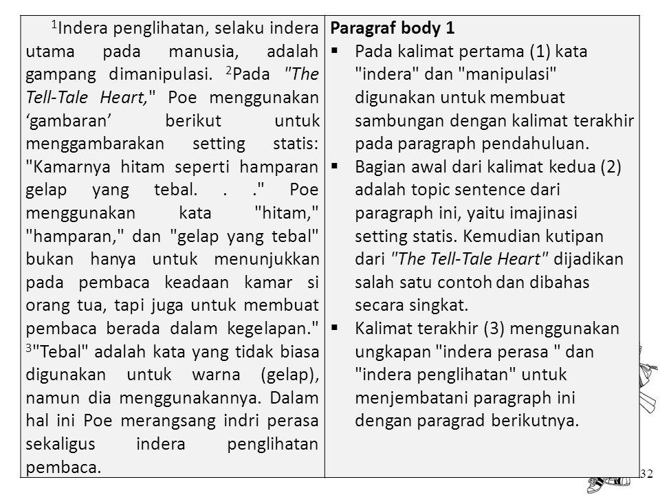 32 1 Indera penglihatan, selaku indera utama pada manusia, adalah gampang dimanipulasi. 2 Pada