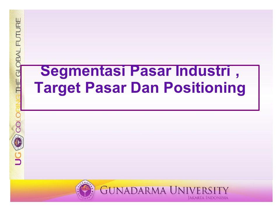 Prosedur Segmentasi pasar Riset pasar Analisis Profilling