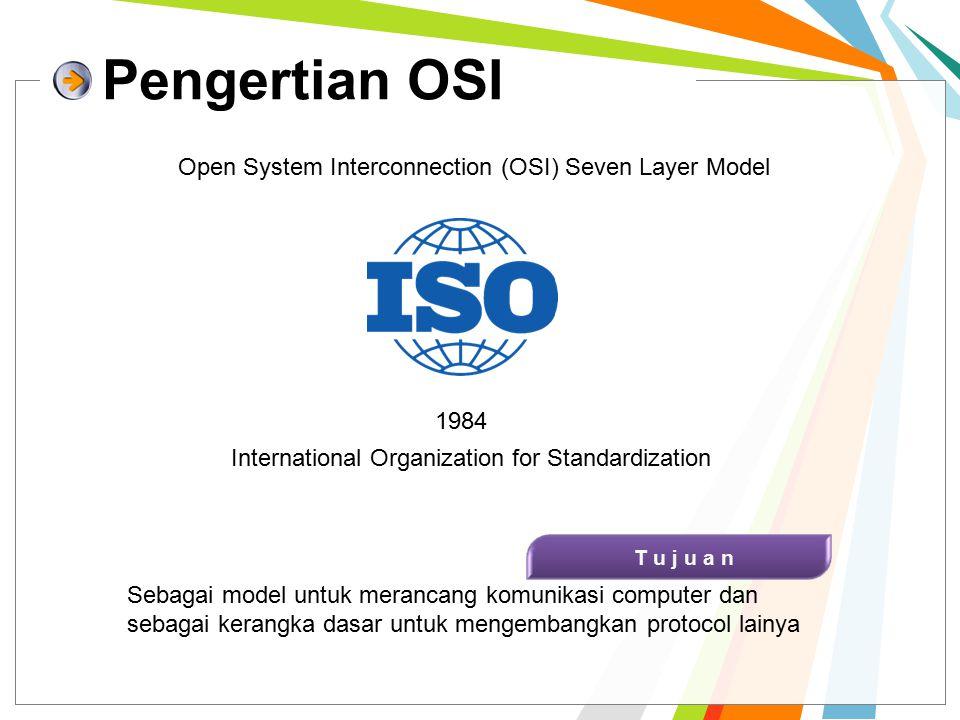 Manfaat OSI Layer 1 Memudahkan untuk memahami cara kerja jaringan komputer secara menyeluruh 2 Breakdown persoalan komunikasi data untuk mempermudah troubleshooting 3 Memungkinkan vendor/pakar untuk mendesain dan mengembangkan hardware/software yg sesuai dengan layer tertentu 4 Menyediakan standard interface bagi pengembang perangkat yang melibatkan multivendor 5 Memudahkan pengembangan teknologi masa depan yang terkait layer tertentu