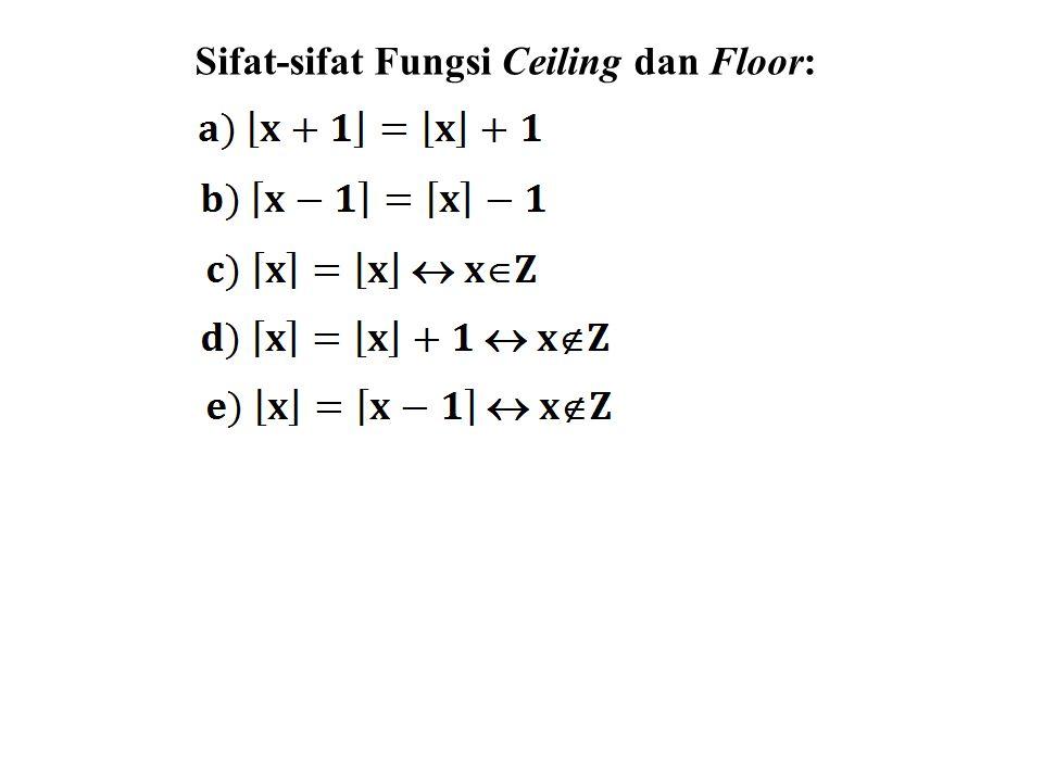 Sifat-sifat Fungsi Ceiling dan Floor: