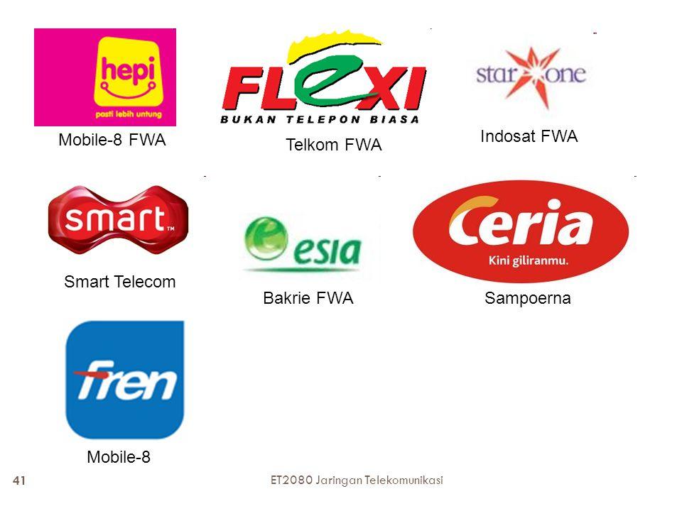 Mobile-8 FWA Indosat FWA Telkom FWA Smart Telecom Bakrie FWASampoerna Mobile-8 41 ET2080 Jaringan Telekomunikasi