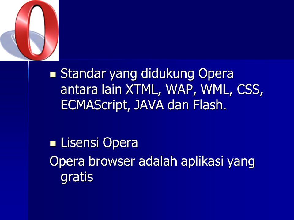 Beberapa Feature dan kelebihan yang dimiliki Opera: Popup Blocking otomatis.