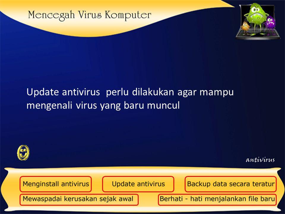 Backup perlu dilakukan, agar data-data penting kita tidak hilang,apabila sewaktu-waktu terkena virus