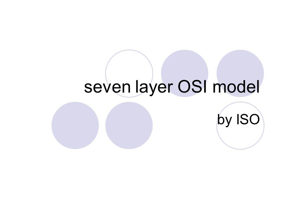 seven layer OSI tujuh proses oleh tujuh lapisan secara sistematis sistematis : lapisan-lapisan bekerja secara berurutan suatu lapisan bekerja berdasarkan hasil proses lapisan sebelumnya