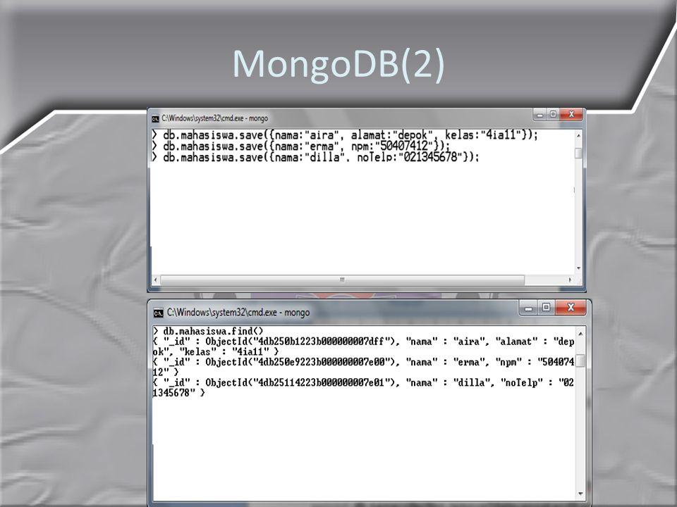 MongoDB(2)