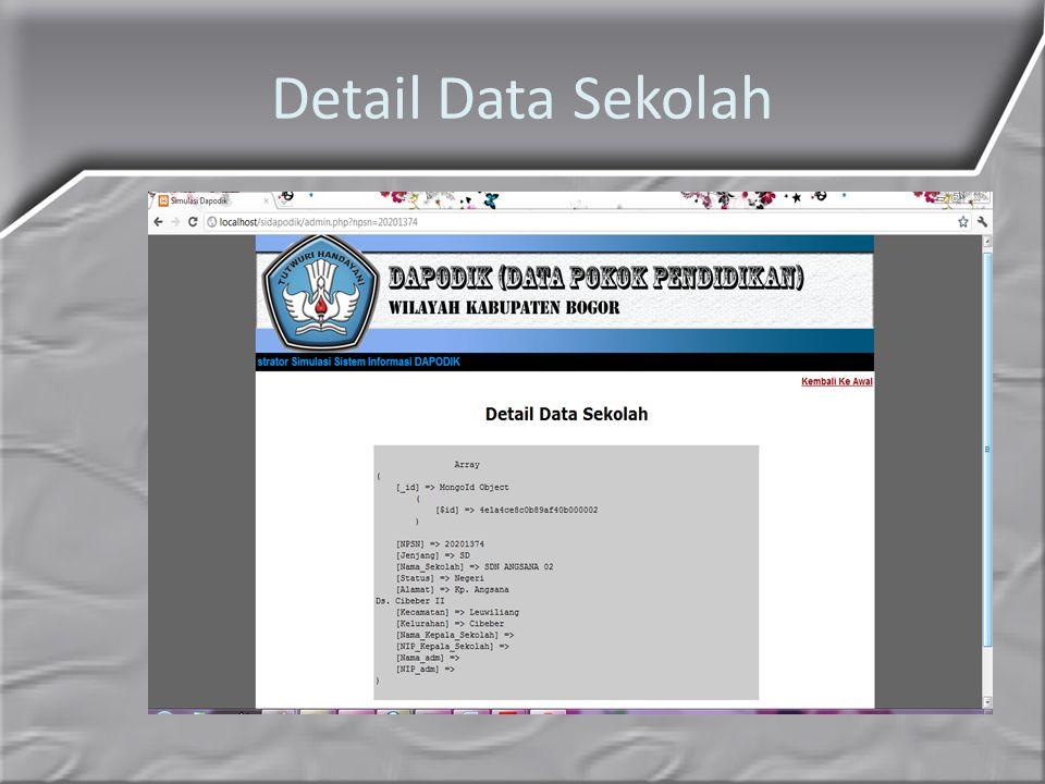 Detail Data Sekolah