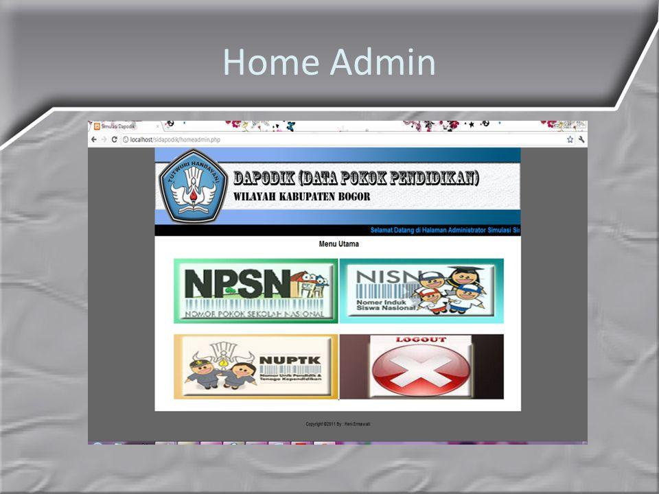 Home Admin