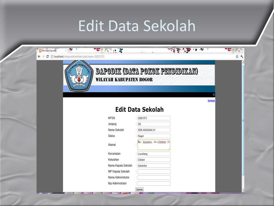 Edit Data Sekolah
