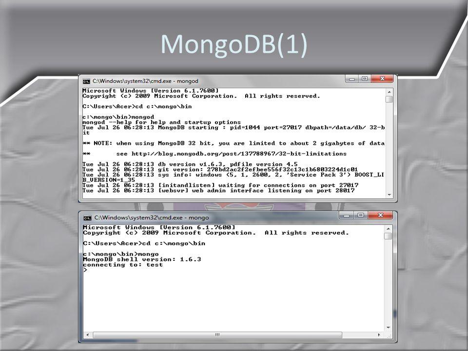 MongoDB(1)