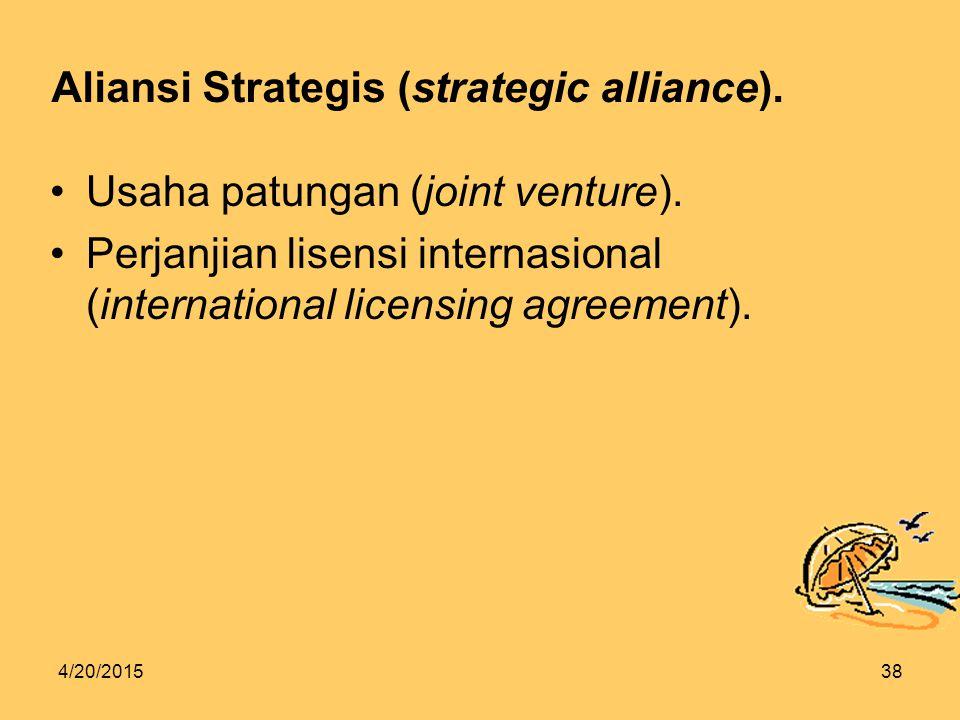 4/20/201538 Aliansi Strategis (strategic alliance).
