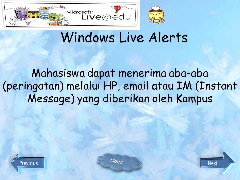 Windows Live Messenger Fasilitas yang lebih dari sekedar chat biasa Group chat sampai dengan 15 orang sekaligus Dapat melakukan sharing folders dan sh
