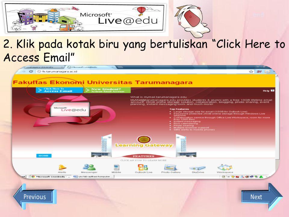 Cara login live@edu 1. Buka website http://tarumanagara.ac.id end,pilih link fakultas ekonomi