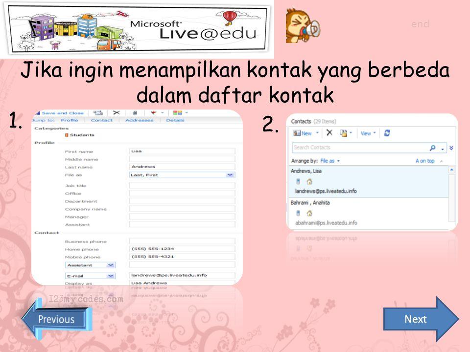 4. Masukkan e-mail berdasarkan nama yang ingin dicari atau klik gambar buku jika tidak tahu e-mailnya end