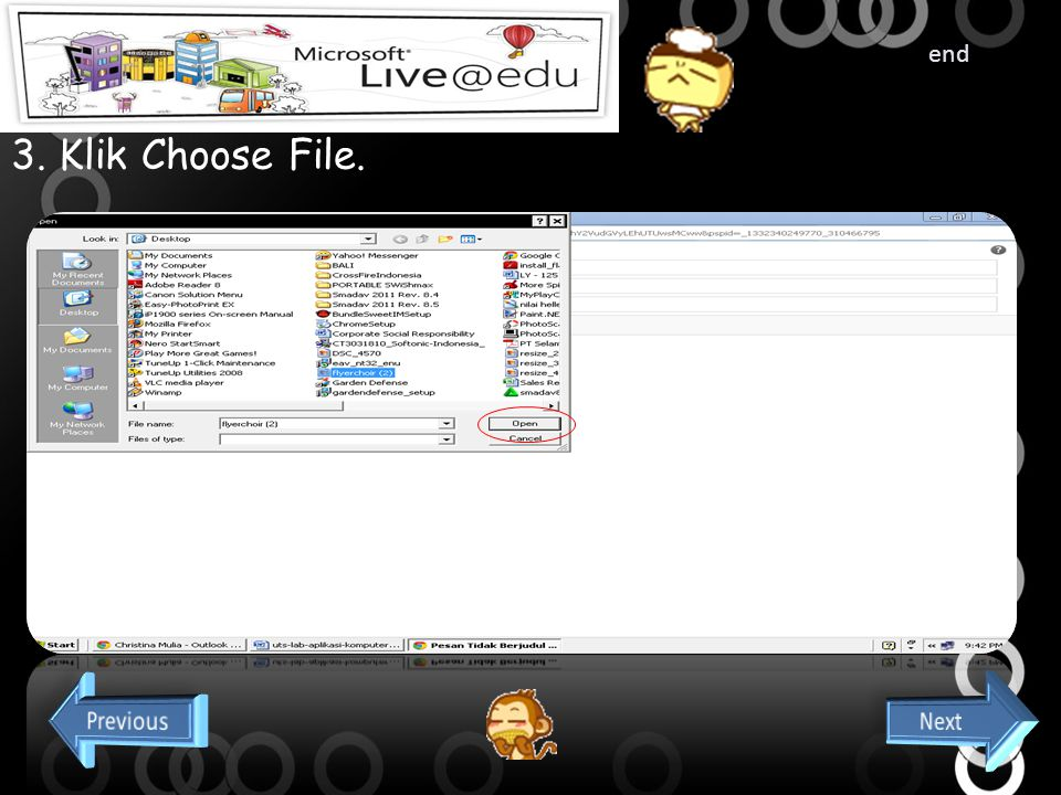 Cara Mengirim Email dengan Attach file 1. Klik New dihalaman awal. 2. Lalu klik attach file yang ada di samping gambar disket