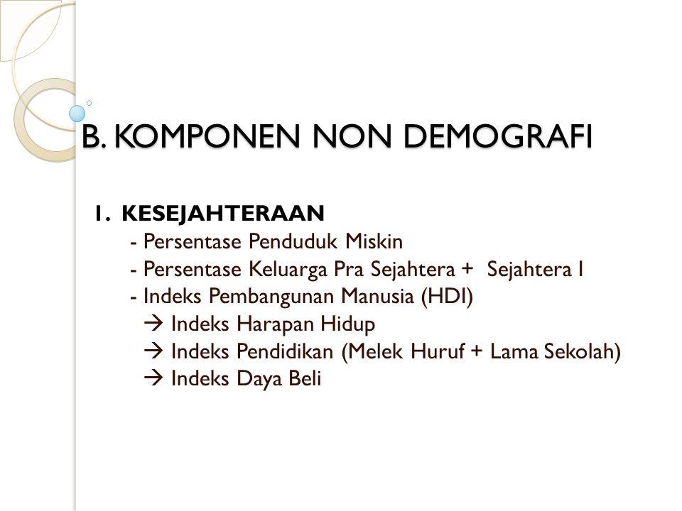 B.KOMPONEN NON DEMOGRAFI 2.