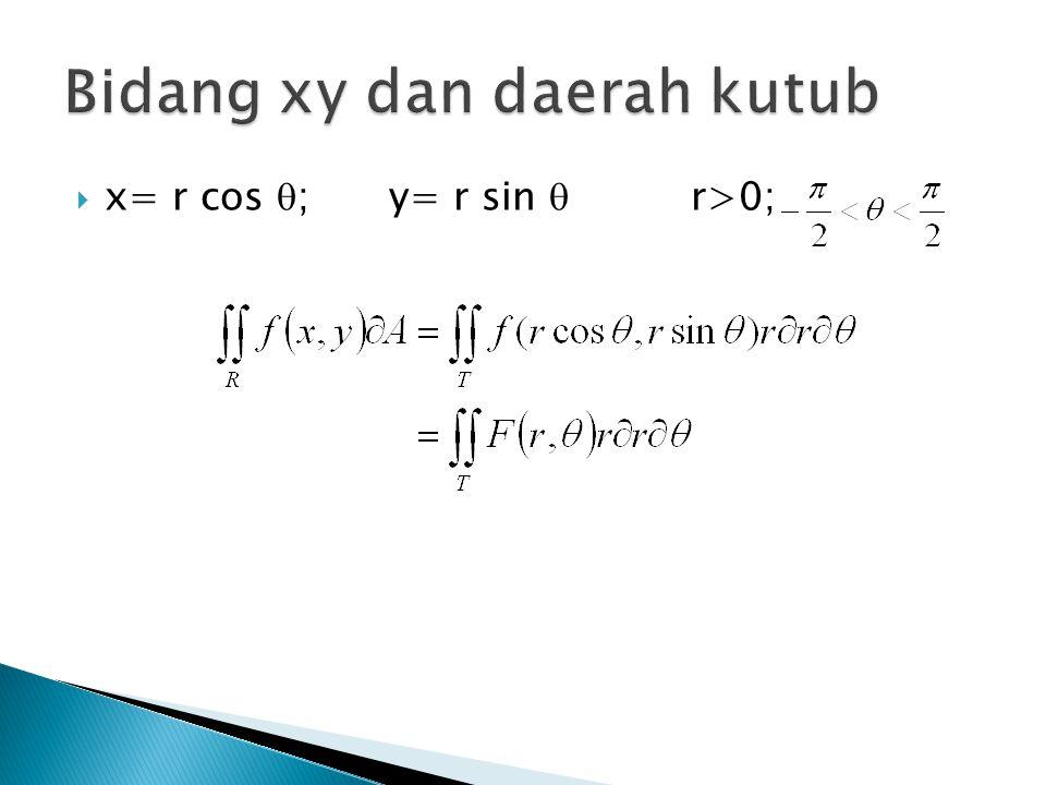  x= r cos  ; y= r sin  r>0;