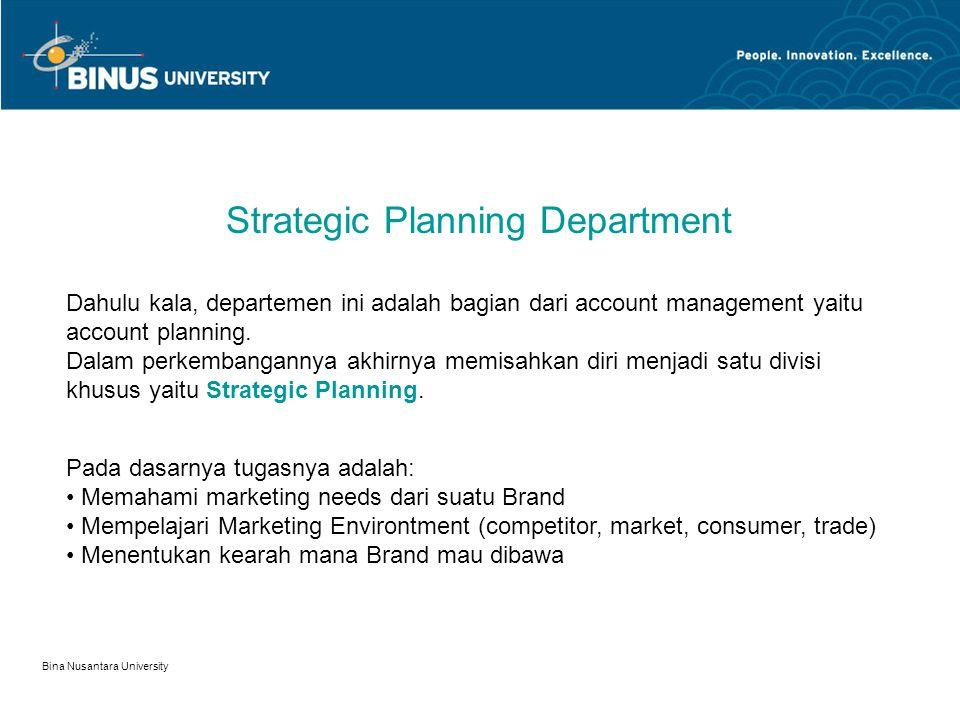 Bina Nusantara University Associated Account Director Jenjang dari account manager sebelum ke Account director.