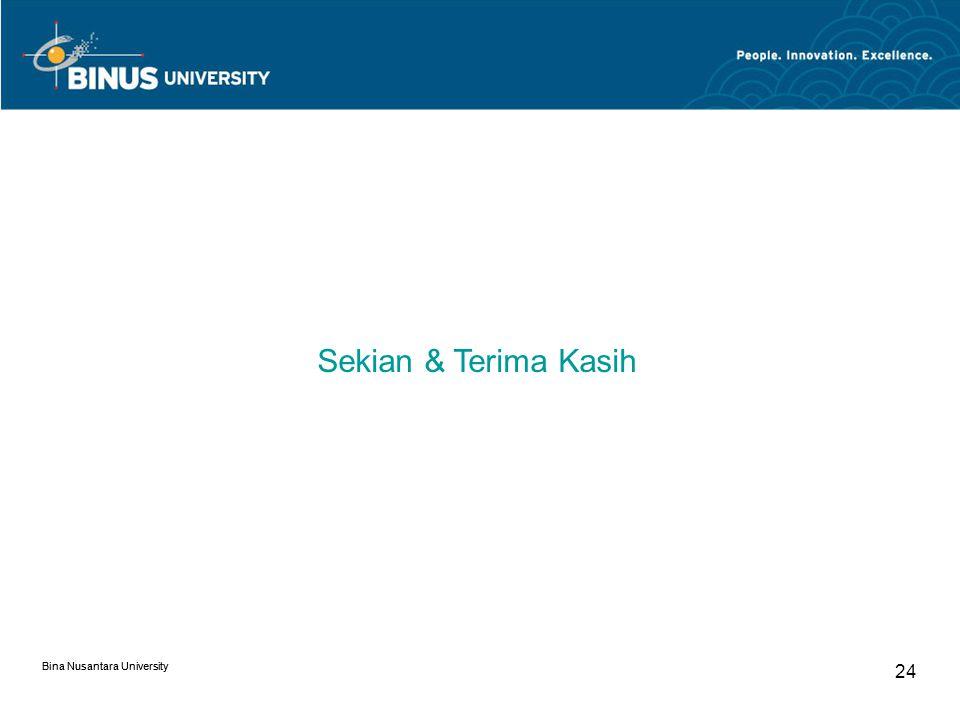 Bina Nusantara University 23 Others Department Kecuali beberapa department inti di atas ada juga departemen pendukung antara lain: Traffic Department Bisa juga sebagai Project Management.