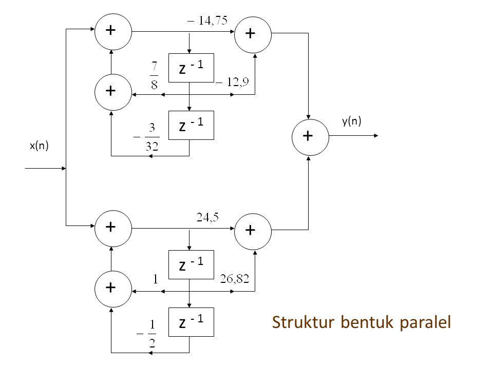  STRUKTUR LATTICE All-pole system : FIR : IIR :