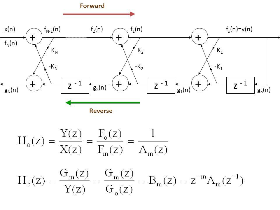  STRUKTUR LATTICE-LADDER Pole-zero system : Struktur bentuk langsung II : All-pole IIR system All-zero FIR system
