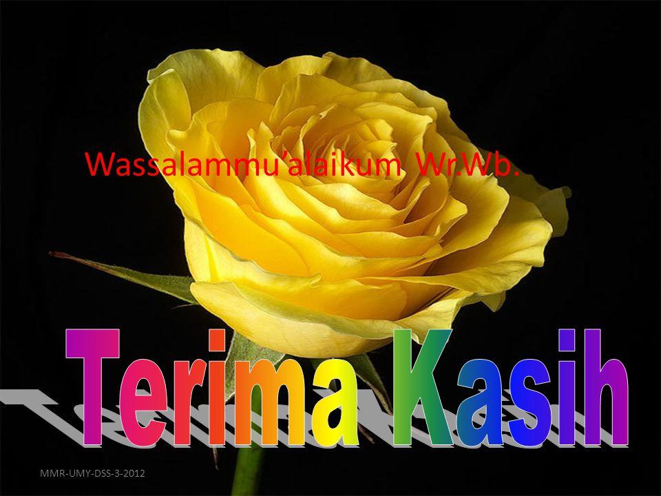 16 Wassalammu'alaikum Wr.Wb. MMR-UMY-DSS-3-2012