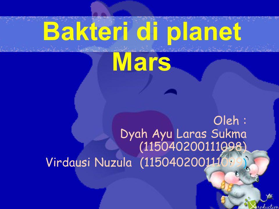 Bakteri di planet Mars Oleh : Dyah Ayu Laras Sukma (115040200111098) Virdausi Nuzula (115040200111099 )