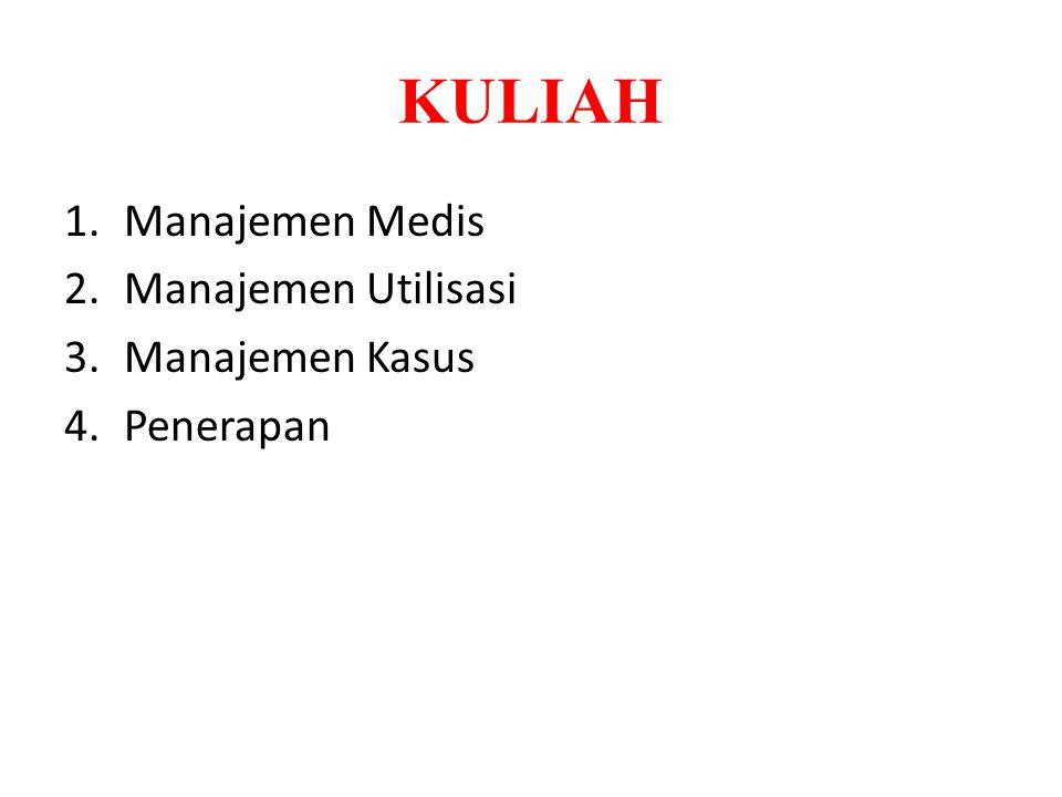 KULIAH 1.Manajemen Medis 2.Manajemen Utilisasi 3.Manajemen Kasus 4.Penerapan