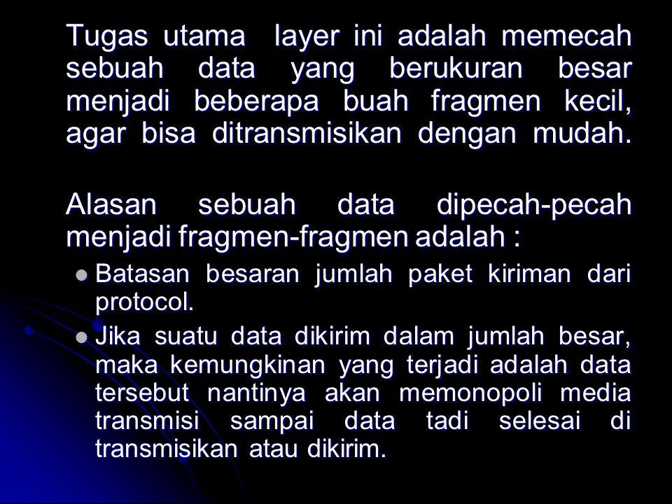 Transport Layer Protocol Pada Transport layer terdapat dua buah protocol : 1.