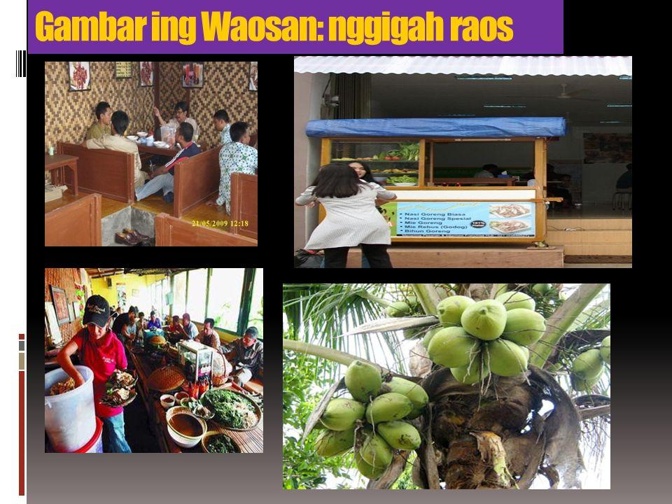 Gambar ing Waosan: nggigah raos