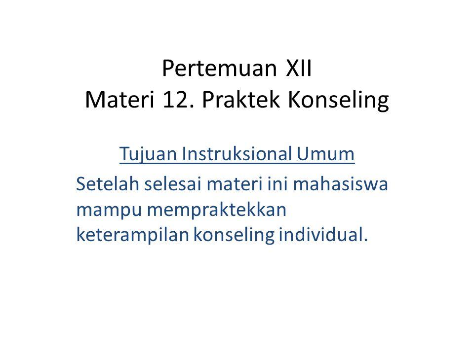 Pertemuan XII Materi 12.
