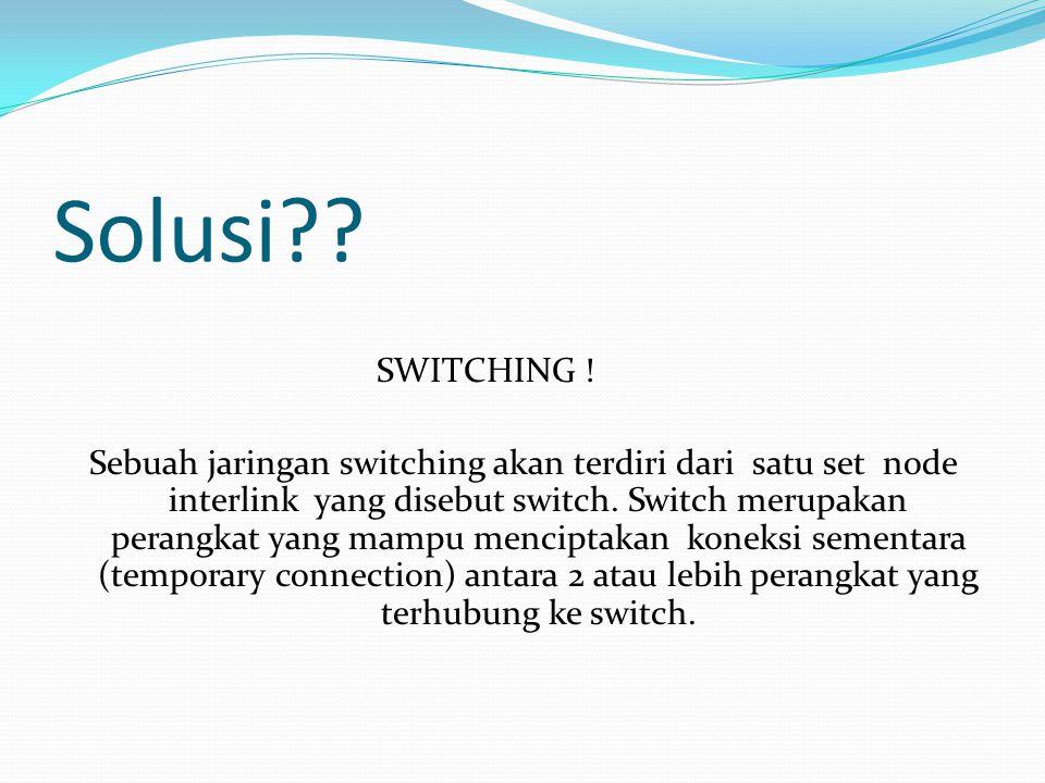 Solusi?.SWITCHING .