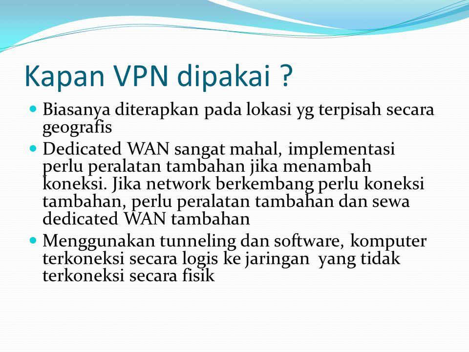 Kapan VPN dipakai .