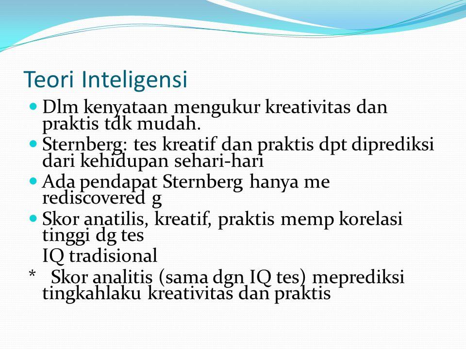 Intelligence Quotient (IQ) Test Test IQ: untuk mengukur performance individu di sekolah atau situasi serupa IQ = MA / CA x 100 MA = Mental Age.
