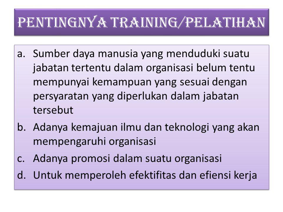 TUJUAN TRAINING / PELATIHAN A.A. Anwar Prabu Mangkunegara