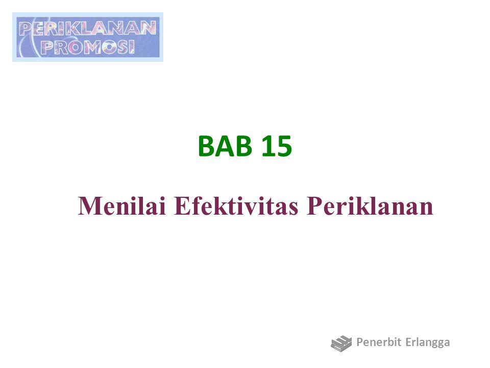 Tujuan BAB 15 1.Menjelaskan dasar pemikiran dan pentingnya riset periklanan.