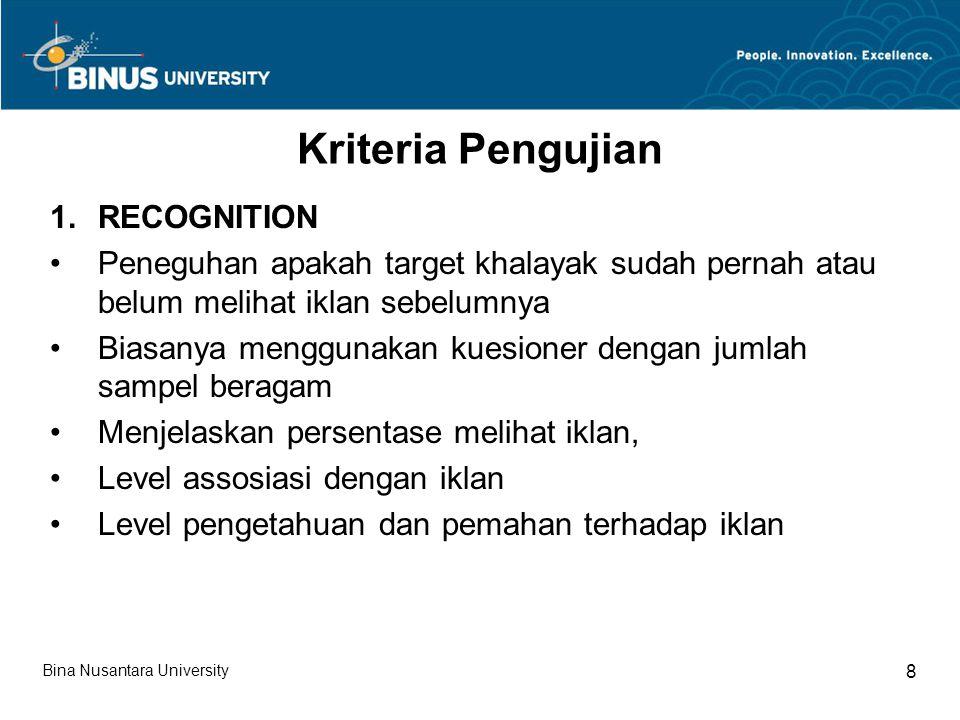 Kriteria Pengujian (lanjutan 1) 2.