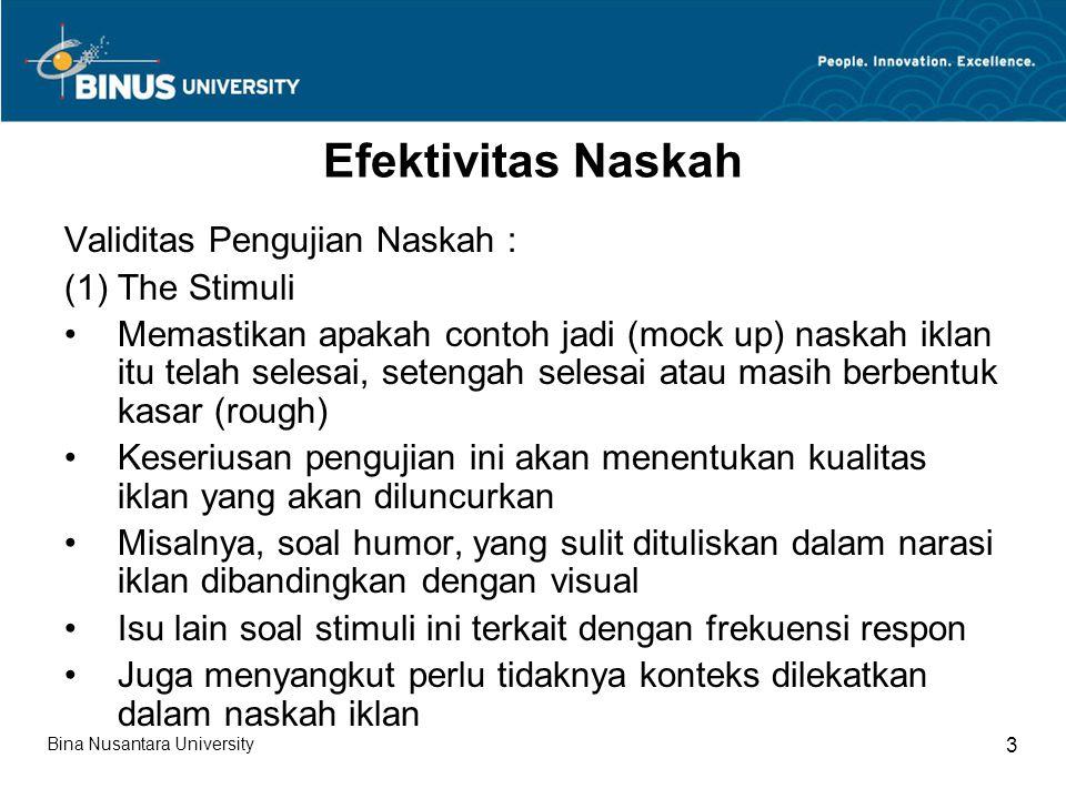 Efektivitas Naskah (lanjutan 1) 2.