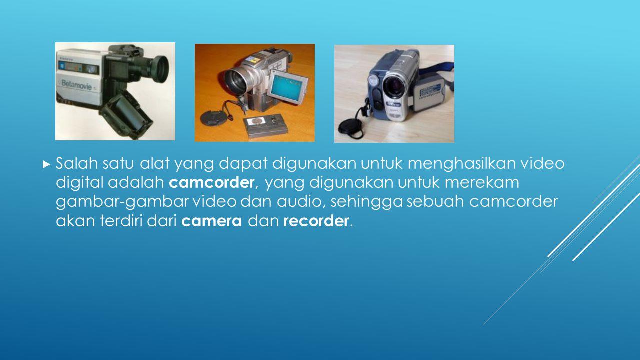  Video digital memiliki keuntungan:  Interaktif; Video digital disimpan dalam media penyimpanan random contohnya magnetic/optical disk.